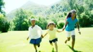 Children Running in Field video
