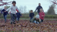 Children Running into the Leaves video