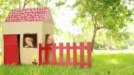 Children Sitting In Playhouse video