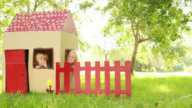 Children Sitting In Playhouse video