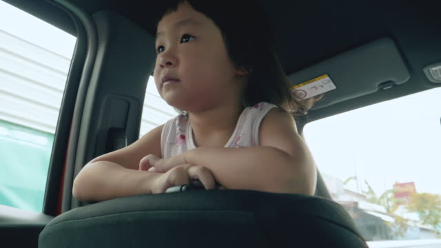 Children Traveling In A Car video