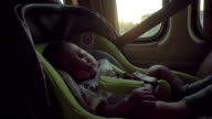 Children Traveling In A Family Car video