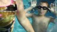 Children underwater video