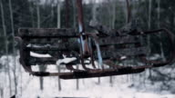 children's attractions in Pripyat at snow video
