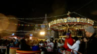 Children's Carousel at the Christmas Fair in Moscow on Red Square. video