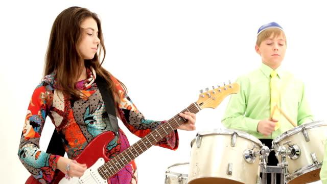 Children's rock band video