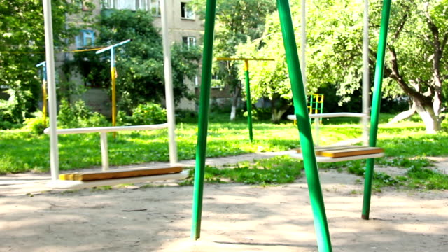 Children's swing for entertainment area video