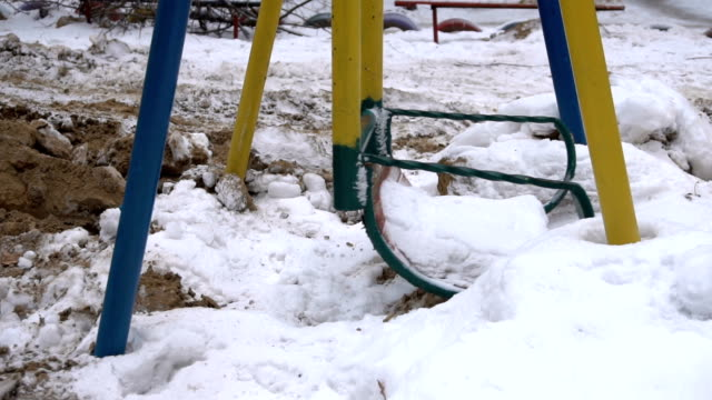 Children's swing in the playground video