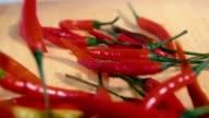 chili pepper drop down slowmotion video