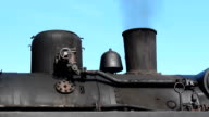 chimney of an old steam locomotive video