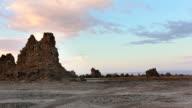 Chimney of Lake Abbe, Djibouti. Sunrise. video