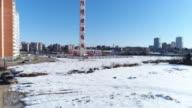 Chimney of power plant video