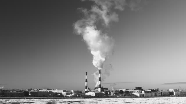 chimney smoke background video