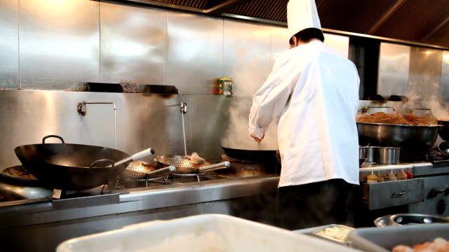 China chef cook. video