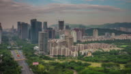 china day light shenzhen city nature roof top panorama 4k time lapse video