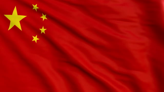China flag animation 4k video