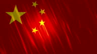 China Flag Loopable Animation video