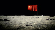 China flag on the moon video