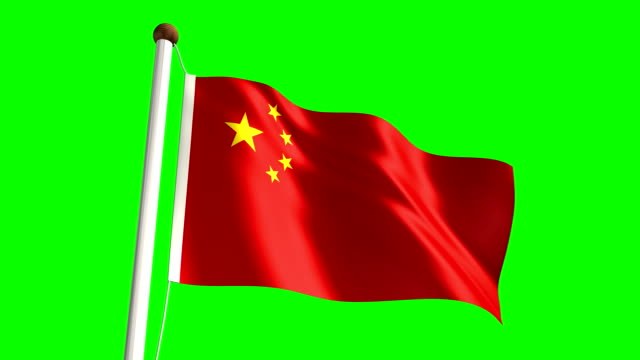 China flag (Loop & green screen) video