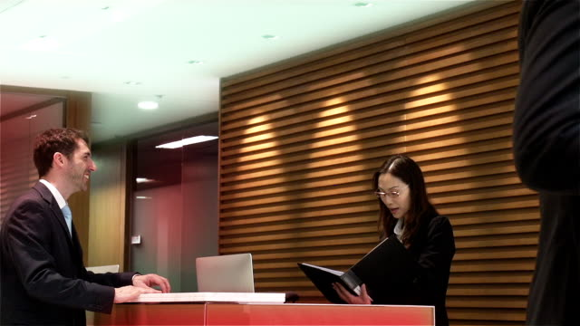 China Hong Kong Front Desk Business People video