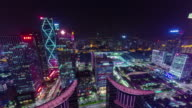 china night light shenzhen city roof top panorama 4k time lapse video