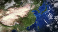 China seen from space. video