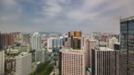 china shenzhen city day light lift up to down view 4k time lapse video