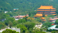 China temple at ngong ping in hong kong video