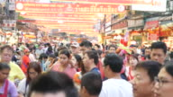 China Town during Chinese New Year video
