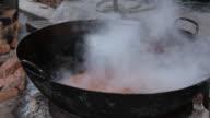 Chinese Chef Prepares Fish Chili Sauce video