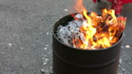 Chinese culture: Burning joss paper video