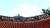 Chinese  Dragon on the roof of Longshan Temple video