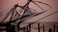 Chinese Fishing Nets in Kerala, India. video