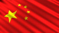 Chinese Flag Animation 3D Stars (HD, NTSC, PAL) video