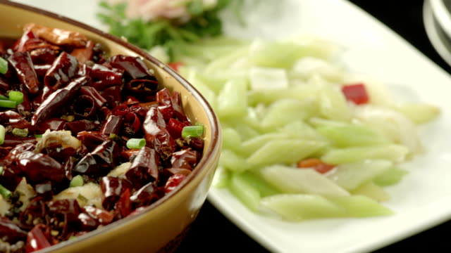 Chinese food,Fish Filets in Hot Chili Oil video