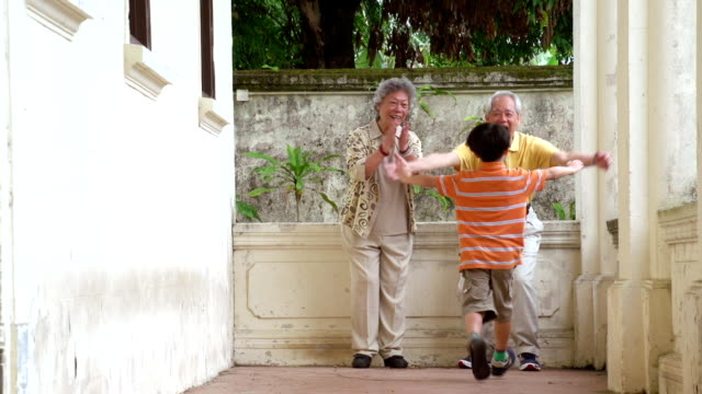 Chinese Grandparents and Grandson video