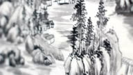 Chinese landscape painting video