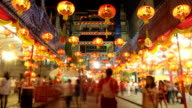 Chinese New Year festival at Leng Noei Yi temple in Bangkok's Chinatown. video