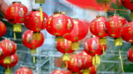 Chinese new year lanterns in china town video