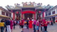 Chinese People Pray, Worship, The Chinese Temple, China Town Bangkok,Thailand video