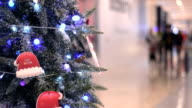 Chinese people shopping malls at christmas day video