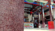 Chinese shrine temple,Dolly shot video