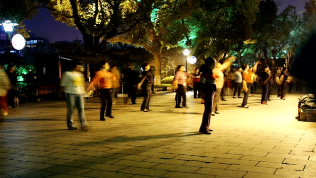 Chinese street dance blurred motion video