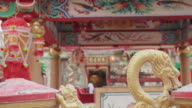Chinese temple establishing shot video