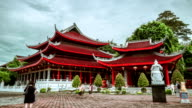 Chinese temple Sam Po Kong in Semarang, Indonesia. FullHD Timelapse - Java, Indonesia video