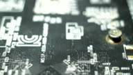 Chip of computer, macro Internet and IT video