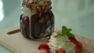 chocolate brownies with vanilla ice-cream video