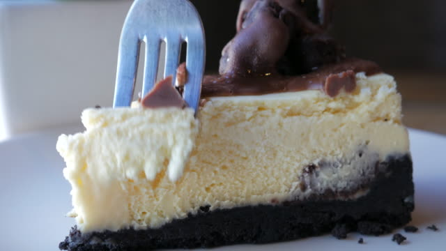 Chocolate cake the best dessert for relax time , 4k(UHD) video