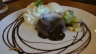 Chocolate lava cake sweet dessert video