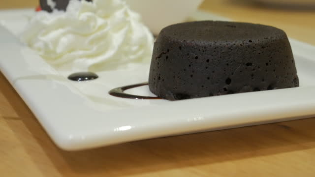 Chocolate lava with panning movement , 4k(UHD) video